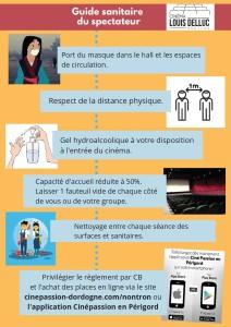 Affiche guide sanitaire du spectateur