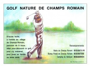 golf nature de Champs Romain