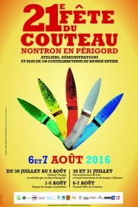 AFFICHE FETE DU COUTEAU 2016