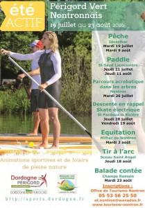 Affiche Eté Actif dates 2016