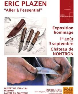 EXPOSITION HOMMAGE ERIC PLAZEN «ALLER A L'ESSENTIEL»