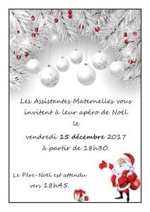 Invitation élus apéro de Noël