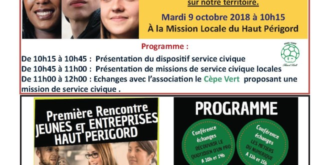 MISSION LOCALE: Service civique