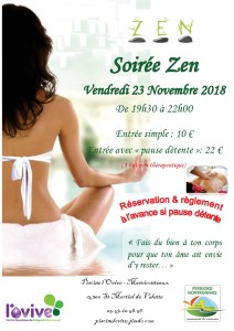 Affiche Soirée Zen 23 Novembre 2018 A4
