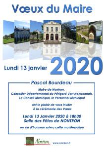 Affiche vœux du Maire 2020 ( version web)