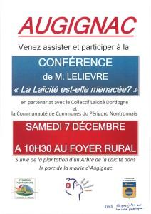 affiche conference augignac laicité