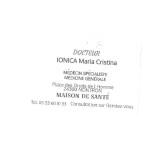 carte visite docteur ionica