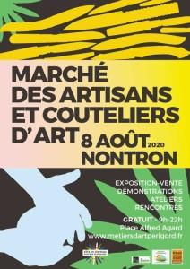 affiche-marché-artisans-et-couteliers-d'art-à-nontron