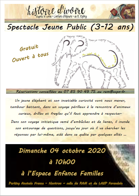 Affiche spectacle RAM 3-12 ans