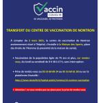 Transfert du centre de vaccination de Nontron